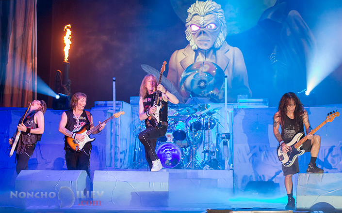 Iron Maiden guitars - Janick Gers, Dave Murray, Steve Harris, Adrian Smith