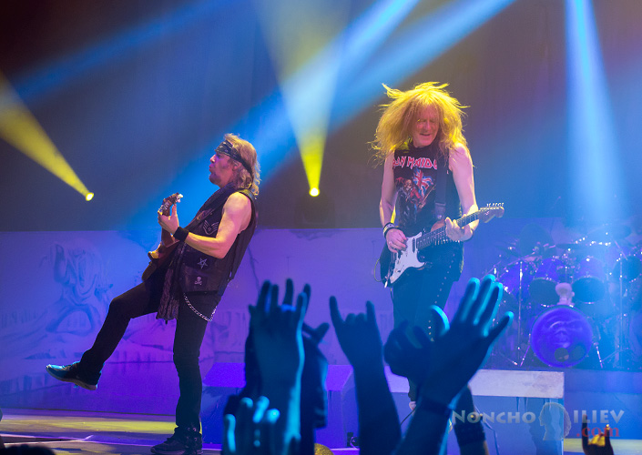 Iron Maiden guitars - Janick Gers, Adrian Smith