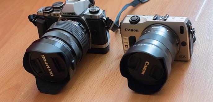 Olympus E-M10 12-40 2.8 Canon EOS-M