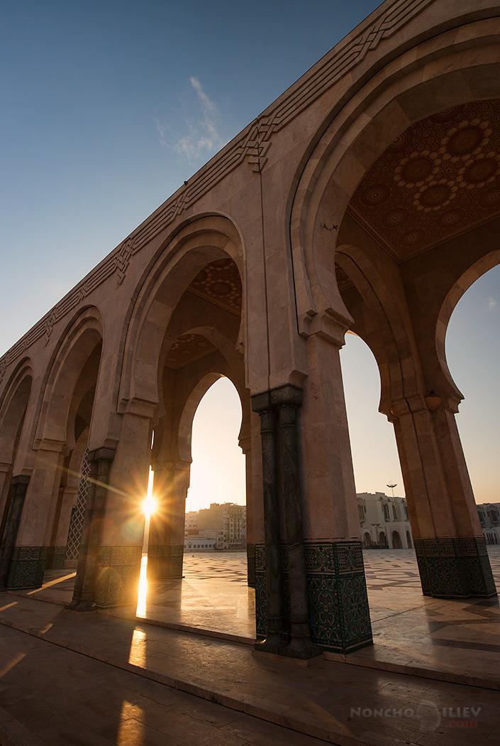 казабланка, мароко, хасан II, джамия,изгрев