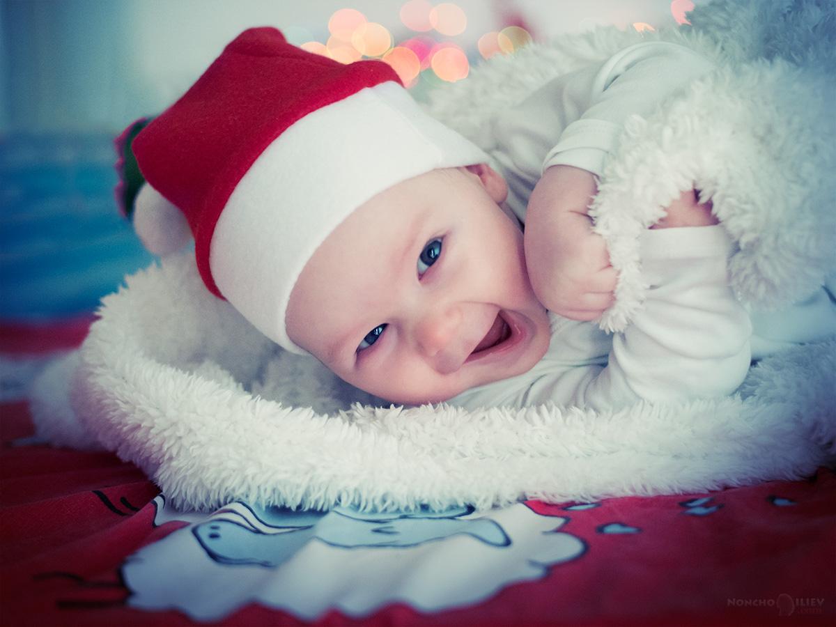 бебе коледа празнични светлини