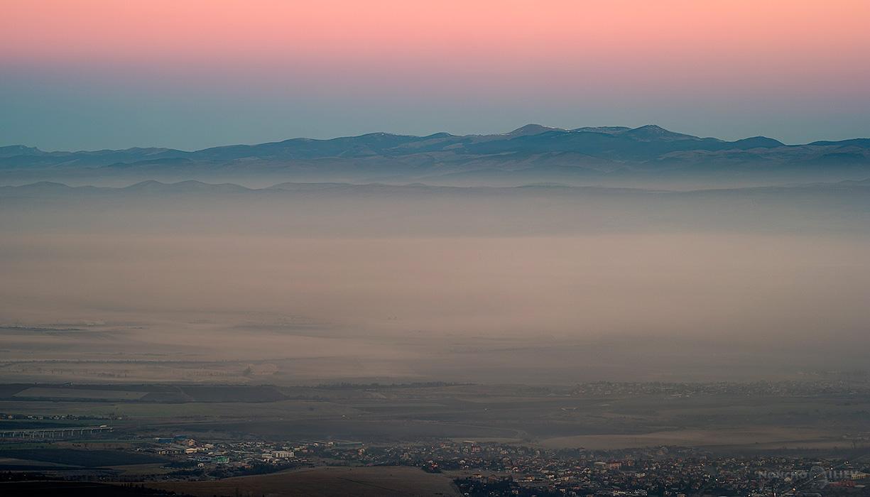 изгрев над София мъгла Копитото