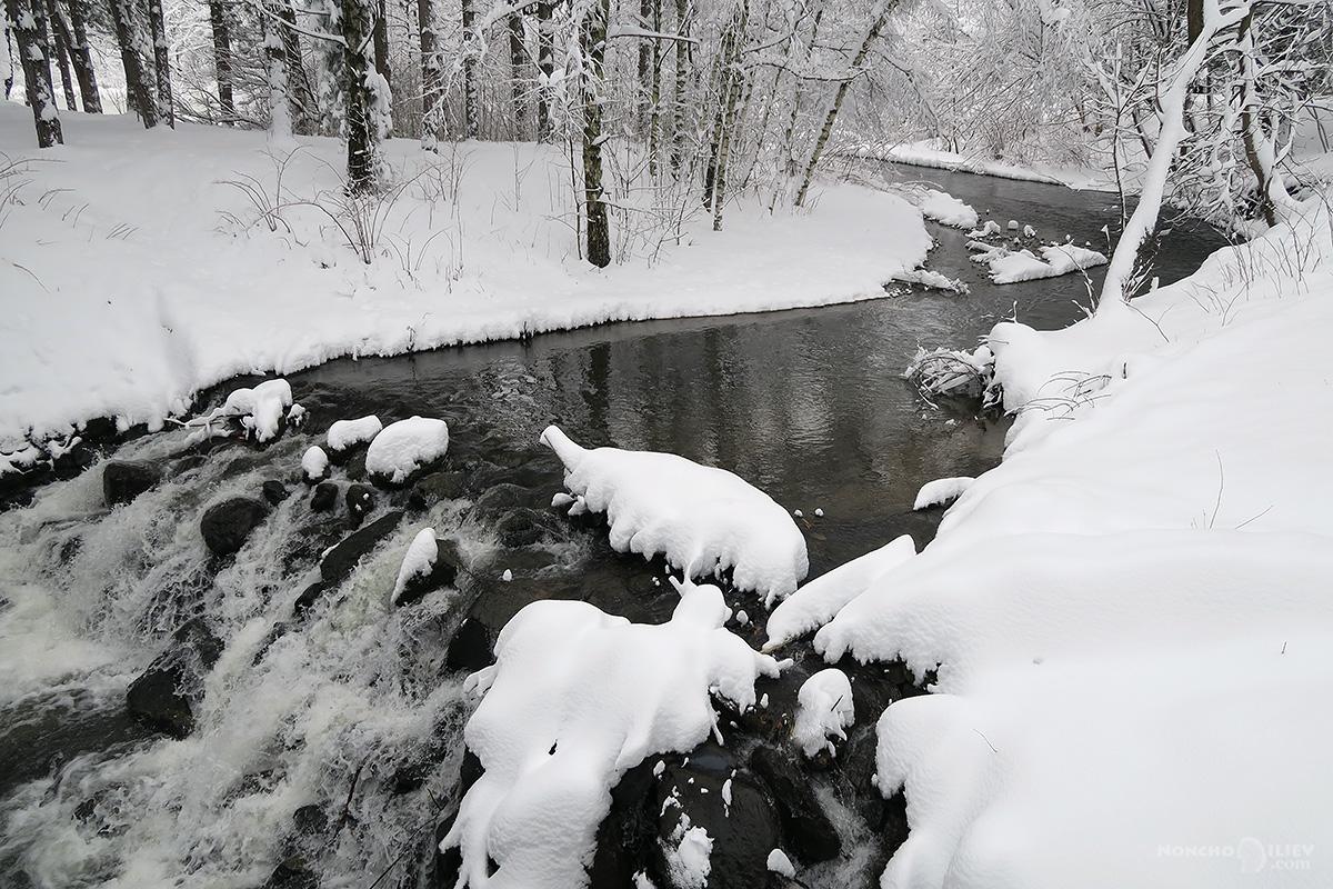зима 2016 сняг река южен парк софия
