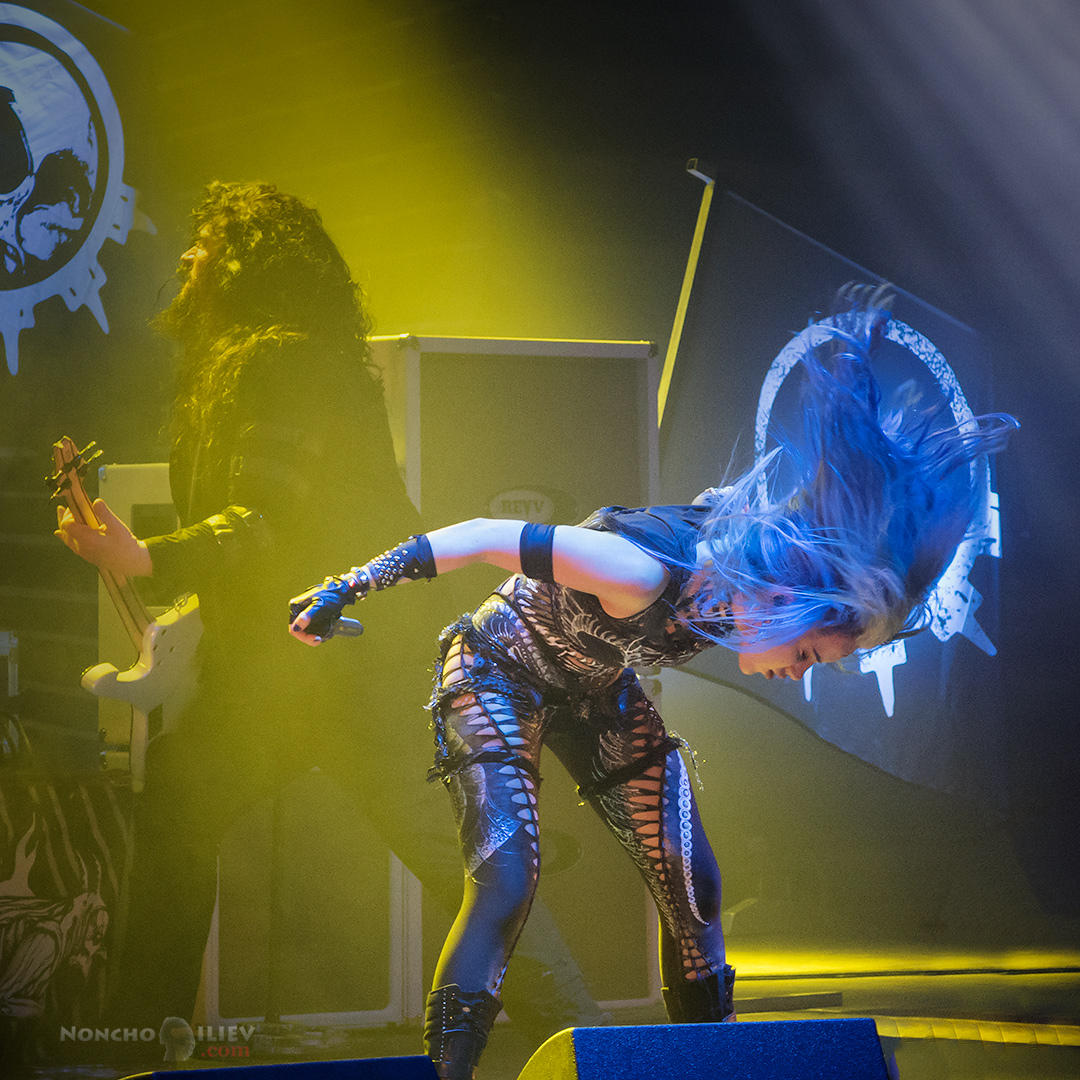 Arch Enemy Sofia Bulgaria 2017 blue hair