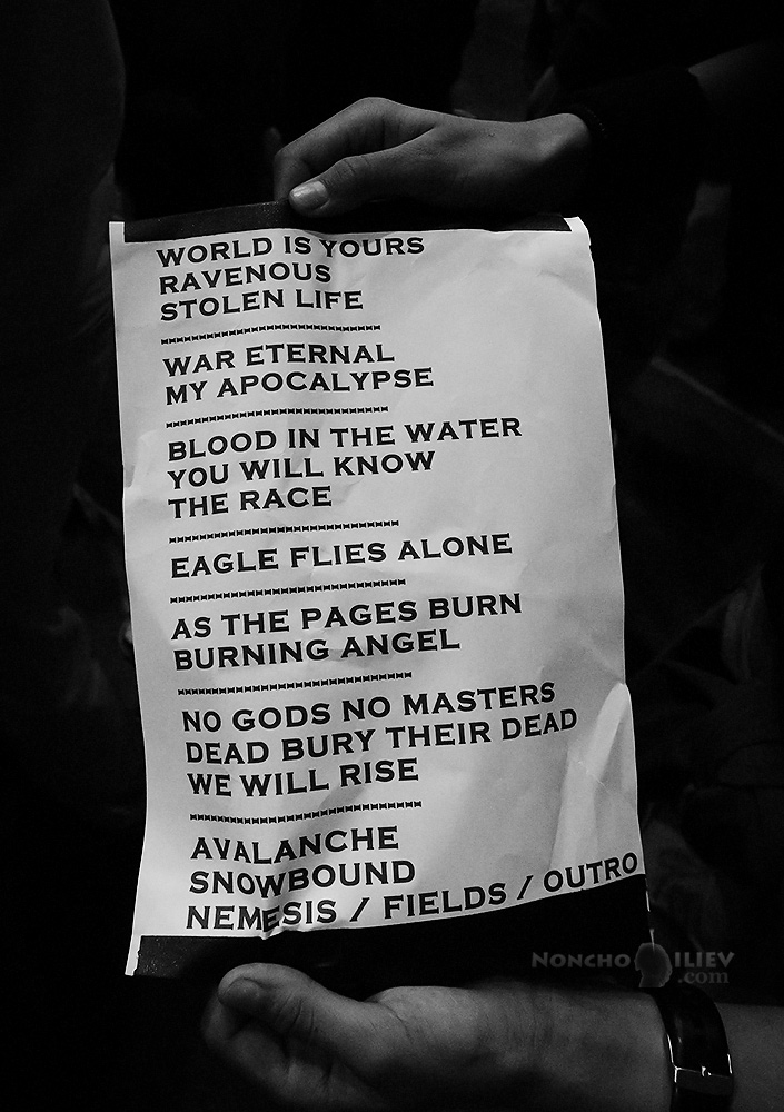 Arch Enemy Sofia Bulgaria 2017 setlist