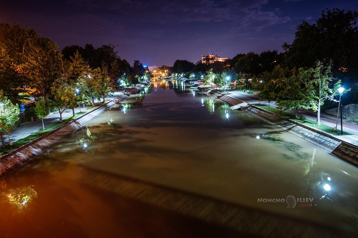 Тимишоара река Бега нощ
