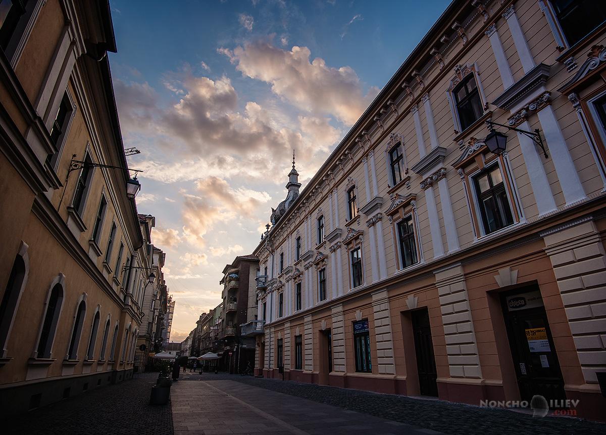 Timisoara sunset Romania