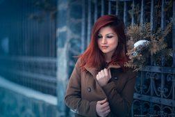 флаш портрет зима