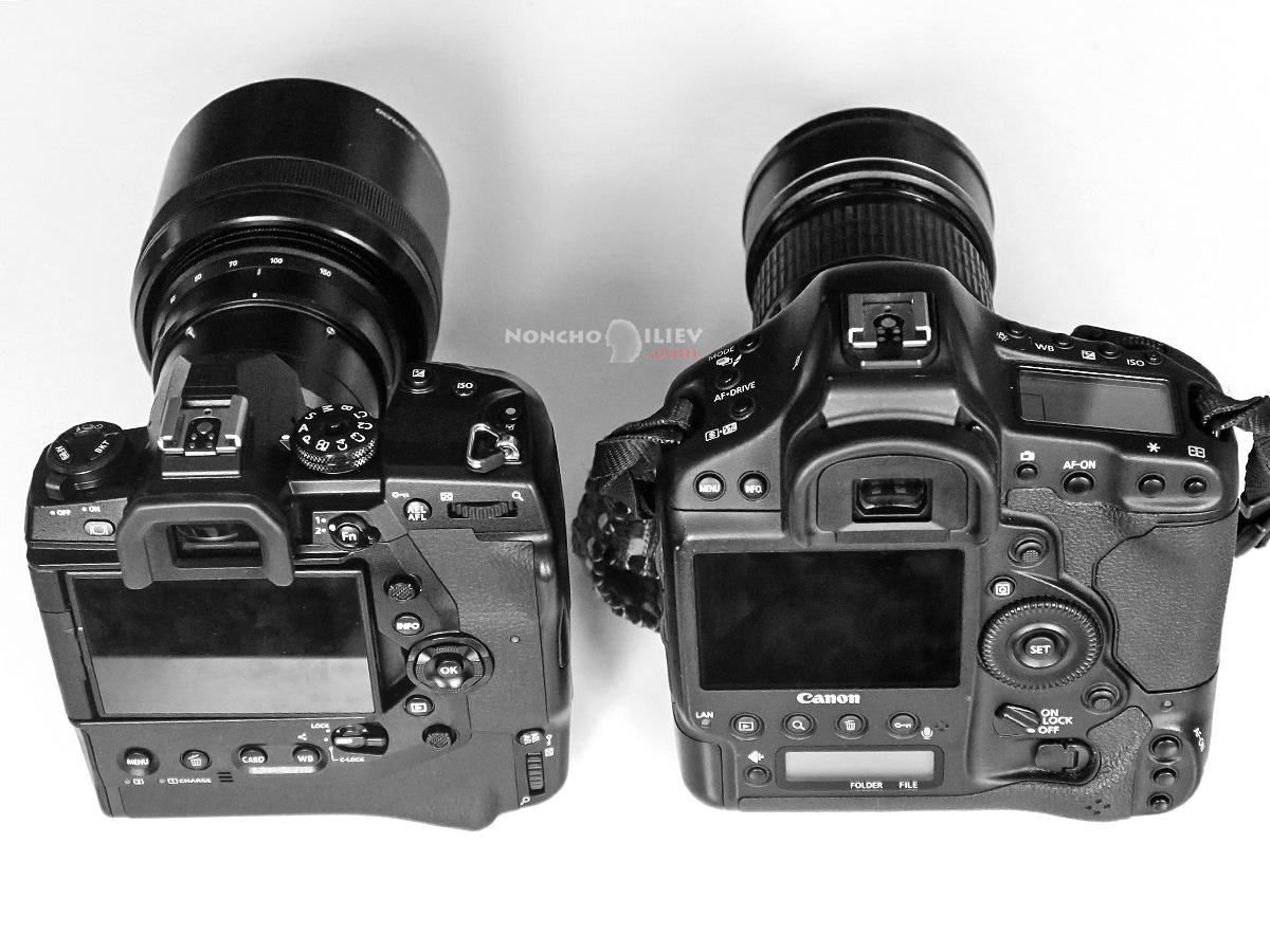 Olympus E-M1X Canon 1D X