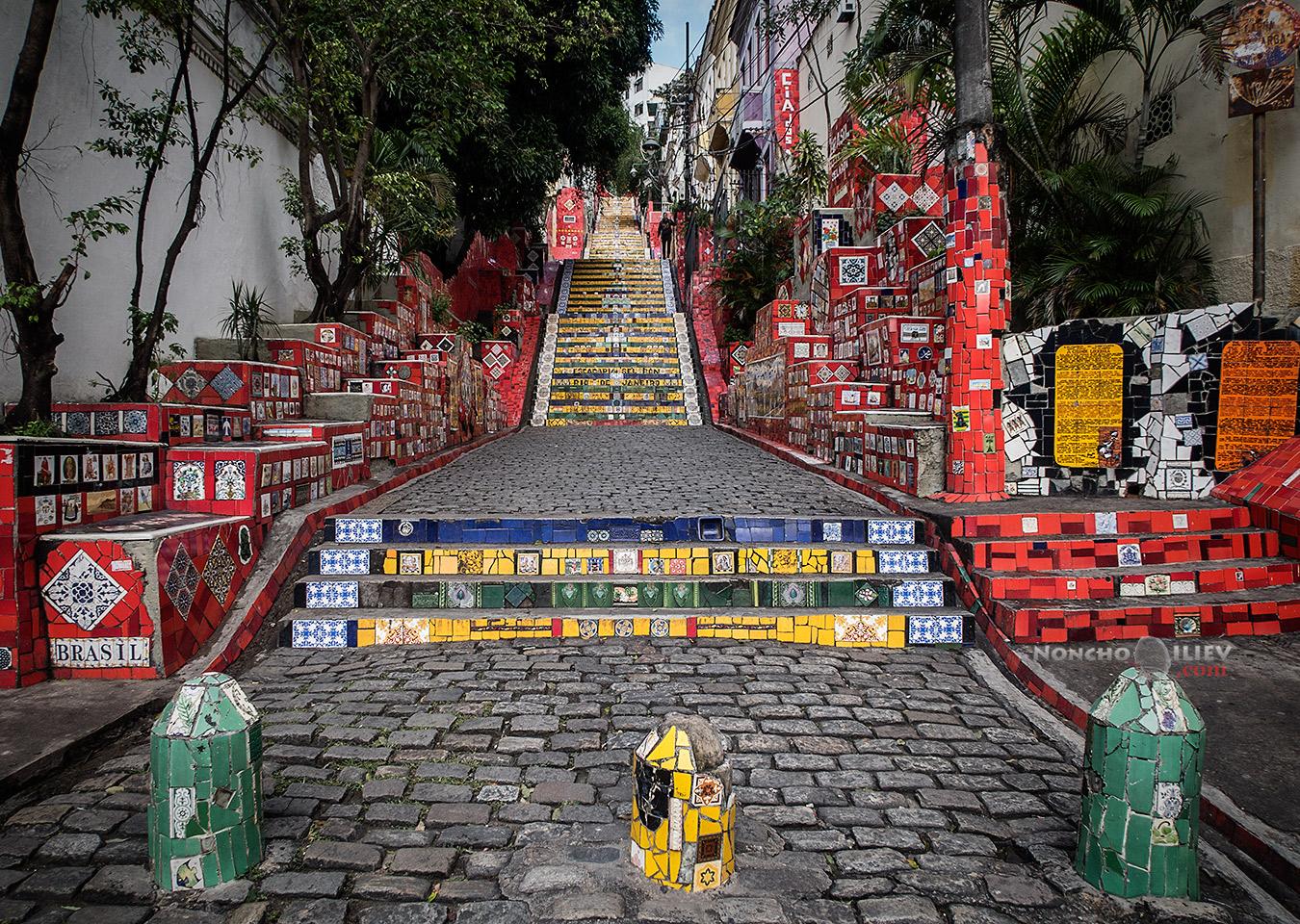 Стълбите на Селарон, Рио де Жанейро