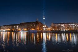 Berlin Spree river and the TV tower