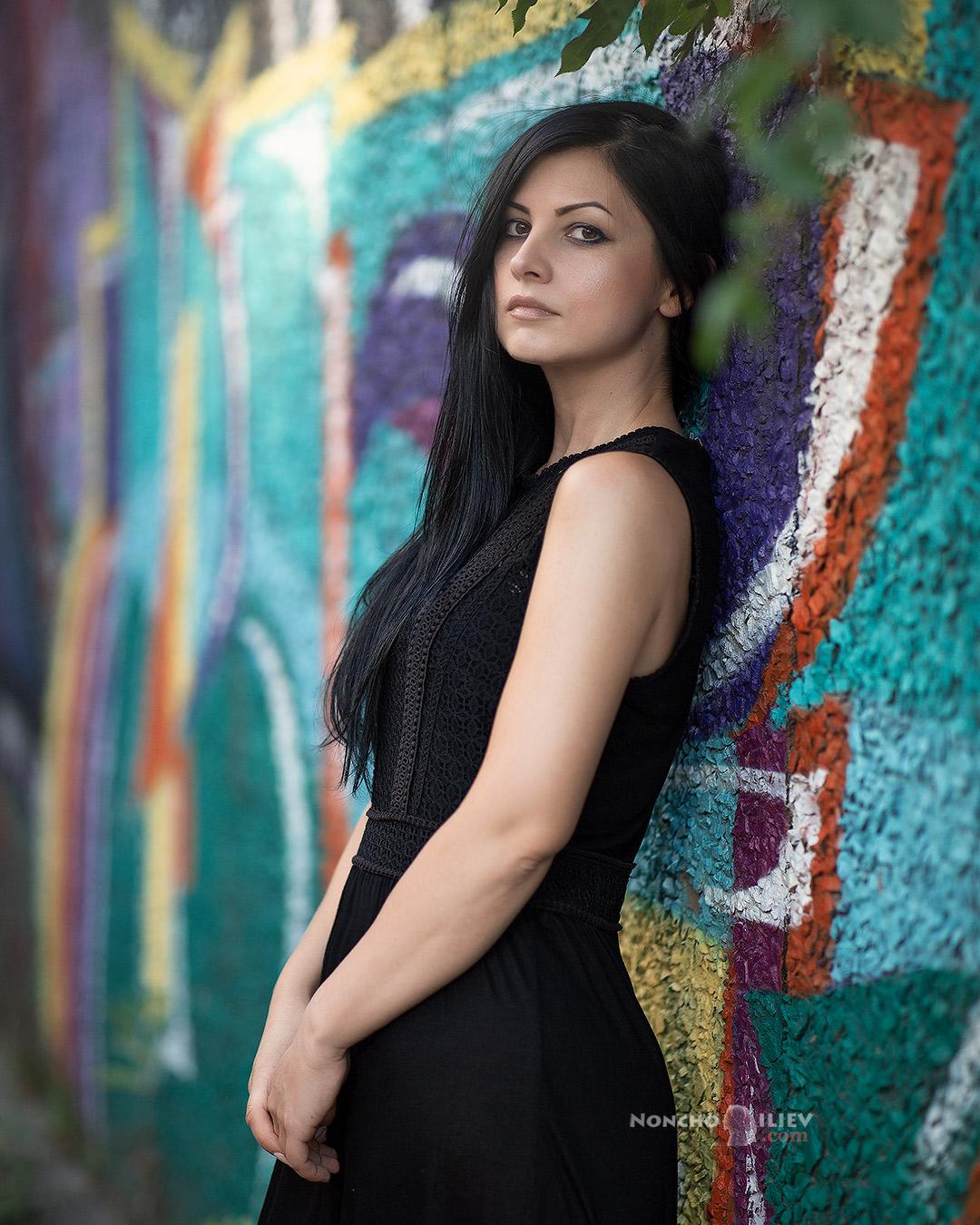 портрет графити